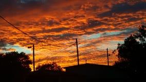 Ηλιοβασίλεμα του δυτικού Τέξας Στοκ Εικόνα