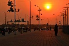 Ηλιοβασίλεμα του φθινοπώρου στοκ εικόνα με δικαίωμα ελεύθερης χρήσης
