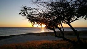 ηλιοβασίλεμα του Aruba Στοκ Φωτογραφίες
