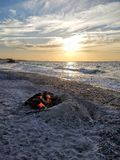 Ηλιοβασίλεμα του Cody ακρωτηρίων Στοκ Εικόνα