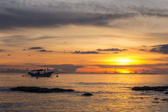 Ηλιοβασίλεμα των Φιλιππινών Στοκ Εικόνα