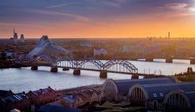 Ηλιοβασίλεμα φθινοπώρου της Ευρώπης στοκ φωτογραφίες
