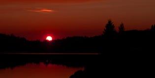 Ηλιοβασίλεμα φθινοπώρου Algonquin στο πάρκο Στοκ Εικόνα