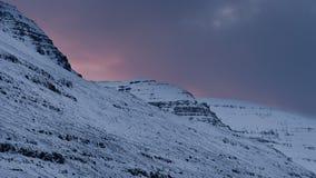 Ηλιοβασίλεμα φιορδ της Ισλανδίας Στοκ εικόνα με δικαίωμα ελεύθερης χρήσης