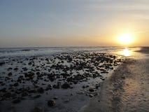 Ηλιοβασίλεμα χαλικιών στοκ εικόνες με δικαίωμα ελεύθερης χρήσης