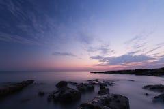 Ηλιοβασίλεμα χρονικής έκθεσης Στοκ Εικόνες
