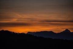 ηλιοβασίλεμα χρωμάτων Στοκ φωτογραφία με δικαίωμα ελεύθερης χρήσης