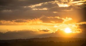 Ηλιοβασίλεμα χώρας Στοκ Εικόνες