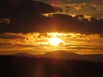 Ηλιοβασίλεμα όμορφο στοκ εικόνα