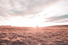 Ηλιοβασίλεμα λόφων Cleeve Στοκ Εικόνες