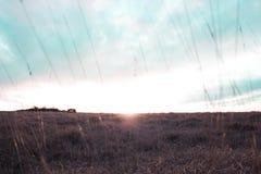 Ηλιοβασίλεμα λόφων Cleeve Στοκ φωτογραφίες με δικαίωμα ελεύθερης χρήσης