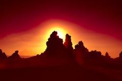 Ηλιοβασίλεμα Abbe λάκκας Στοκ φωτογραφίες με δικαίωμα ελεύθερης χρήσης