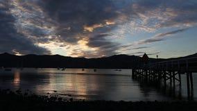 Ηλιοβασίλεμα Akaroa timelapse φιλμ μικρού μήκους
