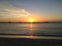 Ηλιοβασίλεμα Aruban Στοκ Εικόνες