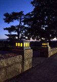 Ηλιοβασίλεμα Athyn Bryn Στοκ Φωτογραφίες