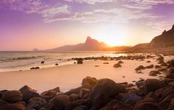 Ηλιοβασίλεμα Bai nhat στην παραλία, νησί Condao - Βιετνάμ Στοκ Φωτογραφία