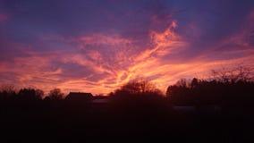 Ηλιοβασίλεμα Beautoful Στοκ Εικόνες