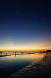 Ηλιοβασίλεμα Boracay, άσπρη παραλία, Φιλιππίνες Στοκ Εικόνες