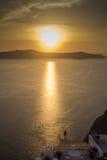 Ηλιοβασίλεμα Caldera Στοκ Εικόνες