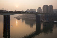 Ηλιοβασίλεμα Chongqing στοκ εικόνες με δικαίωμα ελεύθερης χρήσης