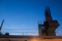 Ηλιοβασίλεμα Constrution Στοκ εικόνα με δικαίωμα ελεύθερης χρήσης