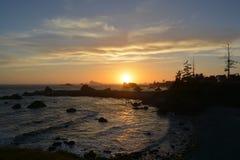 Ηλιοβασίλεμα Crescent City Στοκ Εικόνες