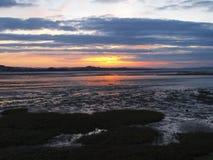Ηλιοβασίλεμα Exmouth από την παραλία στο Ντέβον στοκ εικόνες με δικαίωμα ελεύθερης χρήσης