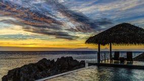 Ηλιοβασίλεμα Fijian στοκ φωτογραφία