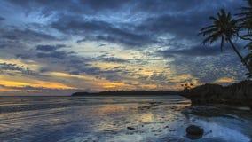 Ηλιοβασίλεμα Fijian Στοκ φωτογραφία με δικαίωμα ελεύθερης χρήσης