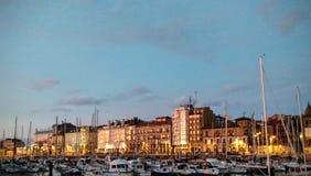 Ηλιοβασίλεμα Gijon, Ισπανία Στοκ φωτογραφία με δικαίωμα ελεύθερης χρήσης