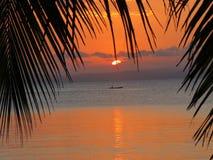 Ηλιοβασίλεμα Ile ST Marie Στοκ φωτογραφία με δικαίωμα ελεύθερης χρήσης