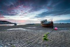 Ηλιοβασίλεμα Instow Στοκ Φωτογραφίες