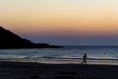 Ηλιοβασίλεμα Jogging Στοκ Εικόνες