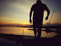 Ηλιοβασίλεμα jombor Rowo Στοκ φωτογραφίες με δικαίωμα ελεύθερης χρήσης