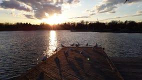 Ηλιοβασίλεμα Lakeshore Στοκ Εικόνες