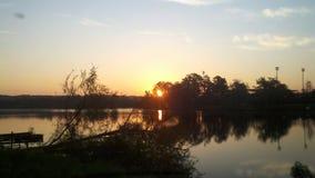 Ηλιοβασίλεμα Lakeview της Γεωργίας στοκ φωτογραφία με δικαίωμα ελεύθερης χρήσης