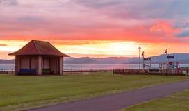 Ηλιοβασίλεμα Largs στο Βορρά Largs Aubery Στοκ Φωτογραφία