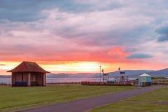 Ηλιοβασίλεμα Largs στο πάρκο Largs Aubery Στοκ Εικόνα