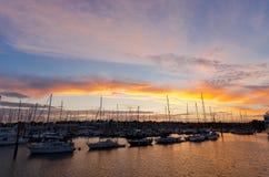 Ηλιοβασίλεμα Lymington Στοκ εικόνα με δικαίωμα ελεύθερης χρήσης