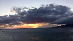 ηλιοβασίλεμα Maui Στοκ εικόνα με δικαίωμα ελεύθερης χρήσης