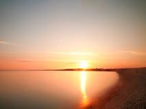 Ηλιοβασίλεμα Milford στοκ φωτογραφίες