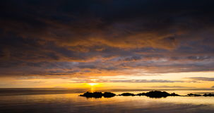 Ηλιοβασίλεμα Mjosund απόθεμα βίντεο