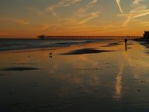 Ηλιοβασίλεμα Myrtle Beach στοκ φωτογραφίες