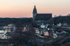 Ηλιοβασίλεμα Naantali την άνοιξη Στοκ Φωτογραφίες