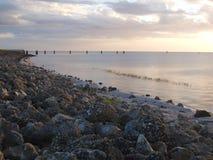 Ηλιοβασίλεμα Okeechobee λιμνών Στοκ Φωτογραφίες