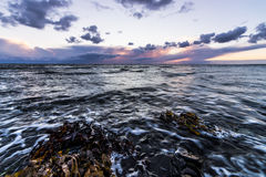 Ηλιοβασίλεμα Ottenby Στοκ Φωτογραφίες