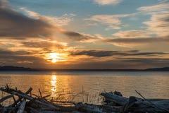 Ηλιοβασίλεμα 2 Pacific Northwest στοκ εικόνες