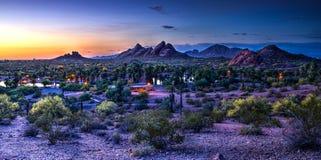 Ηλιοβασίλεμα Papago στοκ φωτογραφίες με δικαίωμα ελεύθερης χρήσης