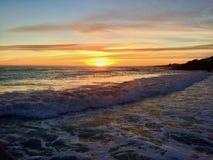 Ηλιοβασίλεμα Pismo Beach στοκ εικόνες