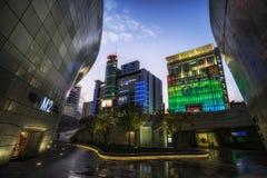 Ηλιοβασίλεμα Plaza σχεδίου Dongdaemun Στοκ Εικόνες